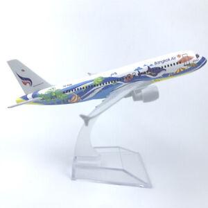16CM alloy airplane model Thailand Bangkok Airways Airbus 320 decoration model