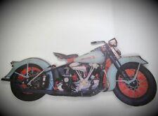 Indien Wandschild Motorrad Eisen grün L.125cm Wand Deko Geschenk antik Vintage