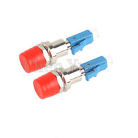 2pcs FC UPC Female to LC Male Fiber Optic Adapter FC-LC Hybrid Optical Adaptor