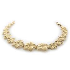Lei Bracelet Flowers 14k Yellow Gold - 8.9gr