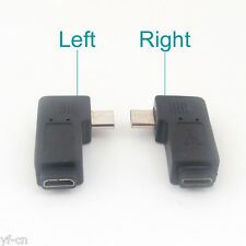 4pcs Micro USB 5Pin Male To Female Right Angle 90D Extension Adapter Connector