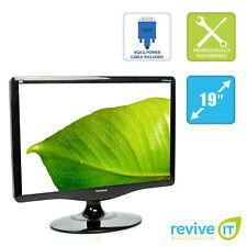 "ViewSonic VA1932wm 19"" Widescreen 1440x900 LCD Monitor DVI VGA Grade B"