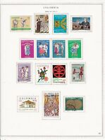 Colombia stamps (only) small collection from 1970 - 1973 w/BOB, SCV $18.25