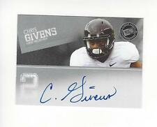 2012 Press Pass Silver Chris Givens Rookie AUTOGRAPH Wake Forest