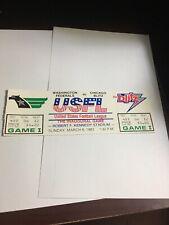 1983 USFL Inaugural Game Washington Federals Chicago Blitz Full Ticket