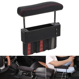 Universal Car Driver Seat Pocket Storage Armrest Box Organizer Holder w/ USB 1x