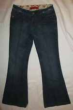 LEVEL 99 ANTHROPOLOGIE slim fit front seam flare distressed snap pockets jeans 1
