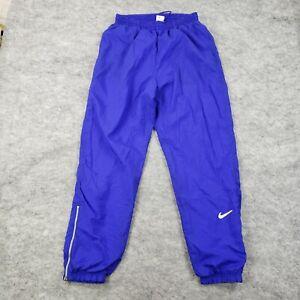 VINTAGE Nike Youth size XL Athletic Track Pants Purple Swoosh Logo Lightweight