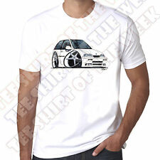 WickedArtz Cartoon Car White Suzuki Swift GTI Mens 100% Cotton White T-shirt