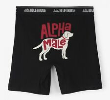 Little Blue House Mens Alpha Male Boxer Briefs Large Novelty Underwear New