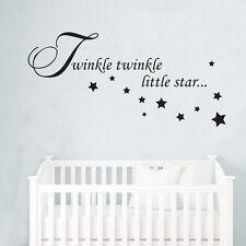 TWINKLE TWINKLE LITTLE STAR WALL QUOTE CHILDREN ROOM DECAL ART STICKER VINYL KID