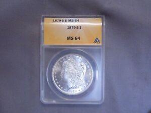 1879 - S Silver Morgan Silver Dollar   ANACS MS64   Rare Key Date