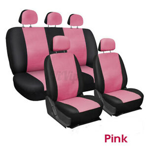 9PCS Universal Car Seat Covers Full Set Washable Cushioned PU Leather Cover