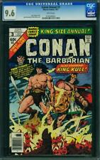 CONAN ANNUAL 3 CGC 9.6 WHITE PAGES 2ND HIGHEST GRADE 1977 KING KULL  A5