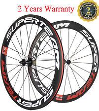 Superteam Bike Wheels Road Bike Cycling Wheelset 60mm Clincher Racing Wheel 700C