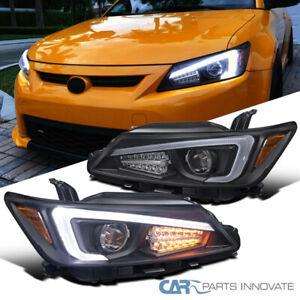 For 11-13 Scion tC Black LED Bar Projector Headlights Lamps+LED Signal+LED Strip