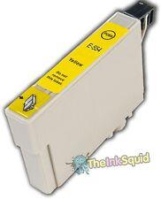 """1 T0554 Jaune Cartouche d'encre compatible non-oem """"canard"""" pour les imprimantes Epson Stylus"""