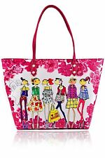LOVE MOSCHINO - LOVE FASHION - Fashionistas - Large Magenta Bag Shopper Tote New