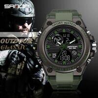 SANDA Original Men Watches Top Brand Luxury Military Quartz Watch Men Waterproof