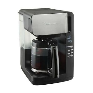 Hamilton Beach 12 Cup Programmable Coffee Maker, Front Fill, Removable Reservoir