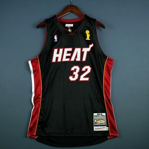 100% Authentic Shaquille O'Neal Mitchell Ness 06 Heat Finals Jersey Size 52 2XL