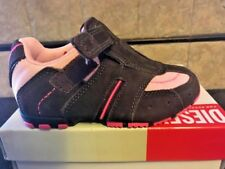 NEW Vintage Pink/Brown Brushed Leather/Nylon Sneakers Diesel Toddlers SZ 7 1/2