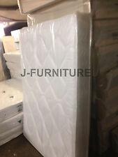 5ft King Size Deep Quilt 22cm Medium Firm Mattress in White. Factory Shop!