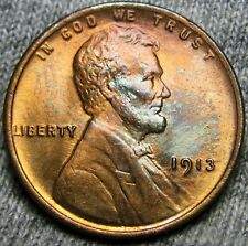 1913 Lincoln Cent Wheat Penny - Gem Bu+ Condition - #S106