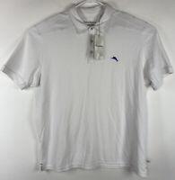 Tommy Bahama Tropicool Pique Spectator White Polo Shirt Short Sleeve Size XL NEW