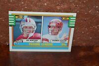 FOOTBALL 49ERS + BENGALS JOE MONTANA & BOOMER ESIASON CARD PASSING LEADERS 1989