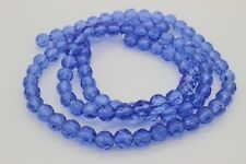 80 pce Blue Faceted Round Crystal Glass Beads 6mm  Jewellery Making Craft