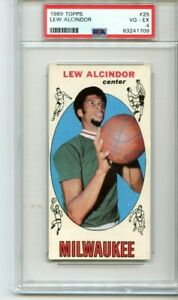1969 Topps Lew Alcindor 25 PSA 4, Kareem Abdul Jabbar / Rookie JUST GRADED!
