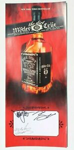 """Nikki Sixx Signed Band Motley Crue """"THE DIRT"""" Signed Autographed Poster 7"""" X 16"""