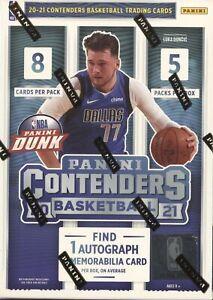 2020-21 Panini Contenders NBA Basketball Factory Sealed Blaster Box