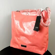 NWT C'N'C COSTUME NATIONAL Patent & Leather Hobo Bag RARE Large Coral