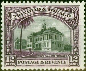 Trinidad & Tobago 1937 12c Black & Violet SG235a P.12.5 Fine Very Lightly Mtd