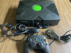 Original Xbox Microsoft Console Game System with controller & Cords - Tested