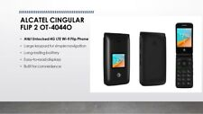 New Alcatel Cingular Flip 2 Ot-4044O At&T Unlocked 4G Lte WiFi Gsm Phone - Gray