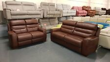 Ex-display La-z-boy Missouri antique brown 3+2 seater sofas