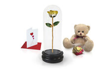 Yellow Two Tone Rose<br><sub> with Dome Gift Sets</sub>