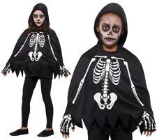 Halloween Enfant Déguisement Unisexe Squelette Poncho Cape & Gant Kit Par