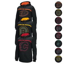 NHL Reebok Cross Check Team Logo Perf. Black Pullover Hoodie Collection Men's