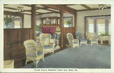 Kahkwa Park Inn Interior View Erie Pennsylvania 1920 Postcard