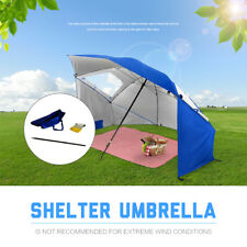 Protable Sun Shade & Weather Shelter Umbrella Beach Picnic Outdoor Camping 2.4M