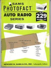 Sams Photofact-Auto Radio Manual/#AR-229/First Edition-First Print/1976
