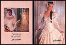 1987 Alfred Angelo International Wedding Dresses Collection Vintage PRINT IMAGES