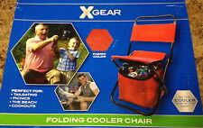 Folding Cooler Chair Tailgating Camping Booths Picnics Hunting Fishing Beach