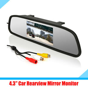 "4.3"" Car Rear View Mirror 2 Ways Video Inputs Monitor PAL / NTSC Auto-switching"