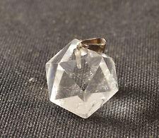 PENDENTIF Icosaedre Solide de PLaton En Quartz Cristal de roche
