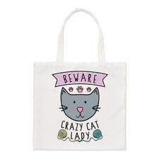 Méfiez-vous Crazy Cat Lady PETIT SAC FOURRE-TOUT - Drôle animal chaton épaule